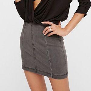 Free People Modern Femme Stretchy Denim Skirt